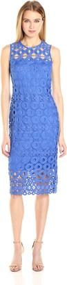 Taylor Dresses Women's Chemical Burnout Long and Lean Lace Sheath Dress