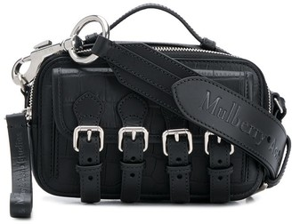 Acne Studios x Mulberry mini crocodile-effect satchel bag