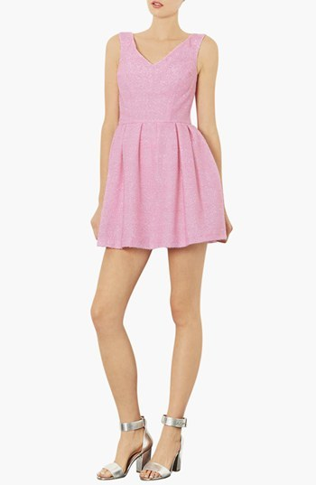Topshop Fluffy Fit & Flare Dress
