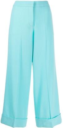 Giada Benincasa Creased Cropped Trousers