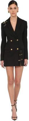 Versace Double Breasted Gabardine Jacket Dress