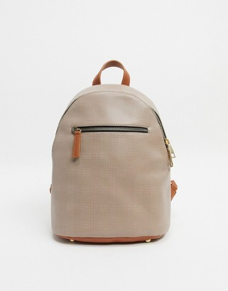Truffle Collection Checked Backpack