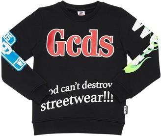 GCDS Logo Print Cotton Sweatshirt