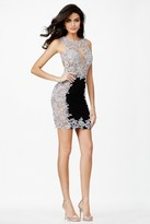 Jovani Sleeveless Lace Applique Embellished Sheath Cocktail Dress JVN27585