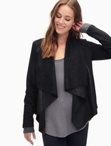 Splendid Mix Media Drape Jacket