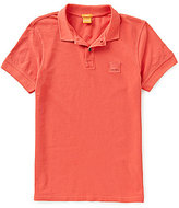 HUGO BOSS BOSS Orange Pascha Slim-Fit Cotton Short-Sleeve Solid Pique Polo Shirt