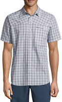 Columbia Short Sleeve Plaid Button-Front Shirt