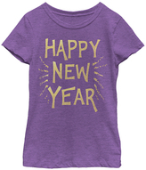 Fifth Sun Purple Berry 'Happy New Year' Tee- Girls - Girls