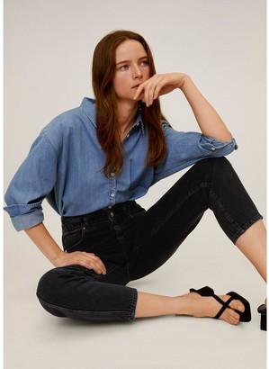 MANGO Paperbag Waist Slouchy Jeans - Grey