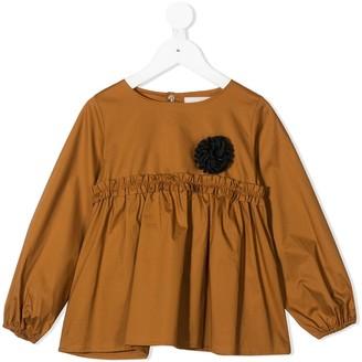Touriste Maschera ruffle-trim blouse