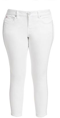 Slink Jeans, Plus Size Metallic Stripe Ankle Skinny Jeans