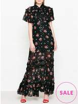 Anna Sui Bouquets And Dots Maxi Dress
