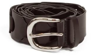 Isabel Marant Zak Braided-leather Belt - Black Multi