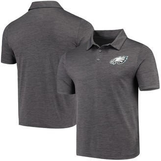 Majestic Men's Heathered Charcoal Philadelphia Eagles Iconic Positive Production Polo