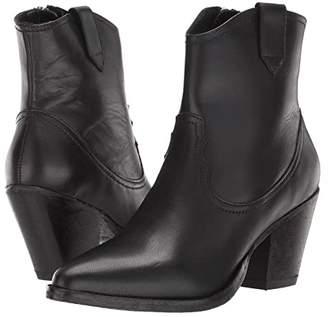 AllSaints Rolene Cowboy Ankle Boot (Black Calf) Women's Boots