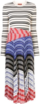Altuzarra Striped Pleated Dress