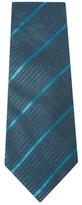 Chanel Vintage Green Stripe Silk Tie