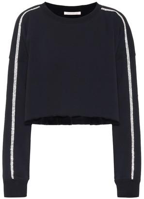 Christopher Kane Embellished jersey sweatshirt