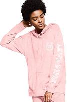 PINK Velour Varsity Pullover