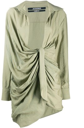 Jacquemus Light Green La Robe Bahia Dress