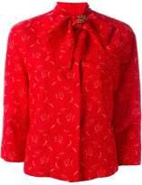 Ermanno Scervino bow collar crop jacket