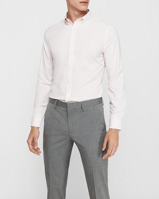 Express Extra Slim Stripe Button-Down Wrinkle-Resistant Performance Dress Shirt
