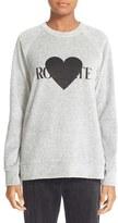 Rodarte 'Rohearte' Heart Graphic Sweatshirt