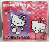 Hello Kitty Pink Faces Queen Size Mink Blanket Super Soft