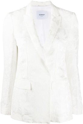 Dondup Floral Embroidered Double-Breasted Blazer