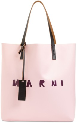 Marni Logo Print Tote Bag