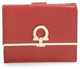Salvatore Ferragamo Women's 'French Icona' Saffiano Calfskin Leather Wallet - Black