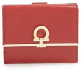 Salvatore Ferragamo Women's 'French Icona' Saffiano Calfskin Leather Wallet - Red