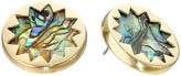 House Of Harlow Abalone Sunburst Stud Earrings