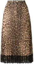 RED Valentino leopard print A-line skirt