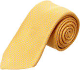 Canali Yellow & Blue Dots Silk Tie