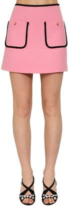 Miu Miu Virgin Wool Tricot Mini Skirt