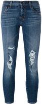 J Brand distressed skinny jeans - women - Cotton/Polyurethane - 27
