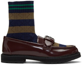 Fendi Brown Scuba Sock Loafers