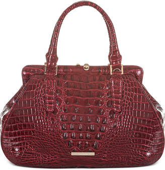 Brahmin Layla Melbourne Embossed Leather Satchel