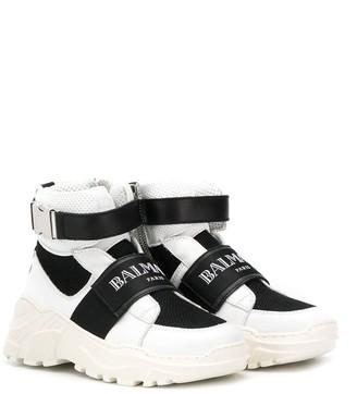 Balmain Kids logo strap sneakers