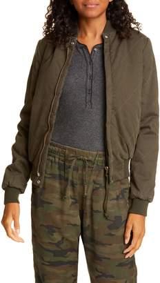 NSF Neil Cotton Denim Bomber Jacket
