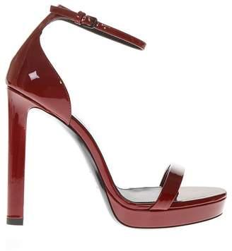 Saint Laurent Red Patent Leather Sandals