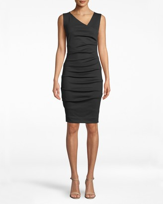 Nicole Miller Ponte Asymmetrical Dress