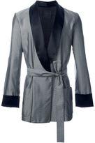 La Perla jacquard chevron dressing gown