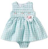 Bonnie Jean Bonnie Baby Baby Girls Newborn-24 Months Checked Seersucker Dress