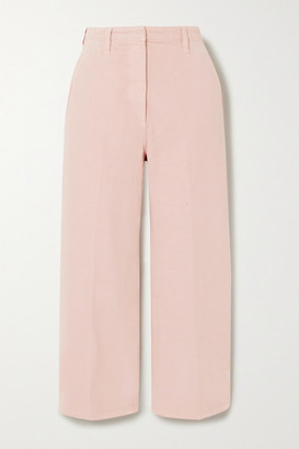 Prada Cropped High-rise Straight-leg Jeans - Pink