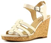 Lucky Brand Willows Women US 7.5 Nude Wedge Sandal