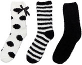 Betsey Johnson Dots And Stripes Cozy Sock Three Pack