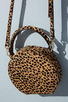 Anthropologie Circular Leopard-Print Crossbody Bag