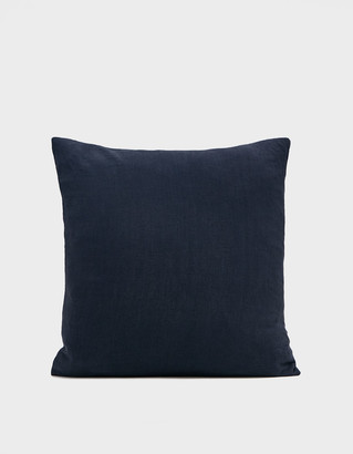 Living Textiles Hawkins New York 18 x 18 in. Simple Linen Pillow in Navy